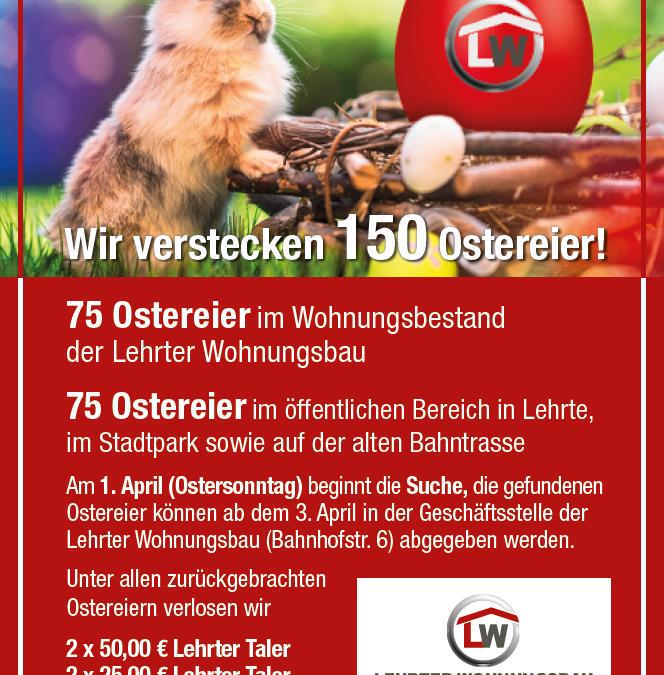 Suchen, finden und gewinnen – die rote Ostereiersuch-Aktion startet am 1. April