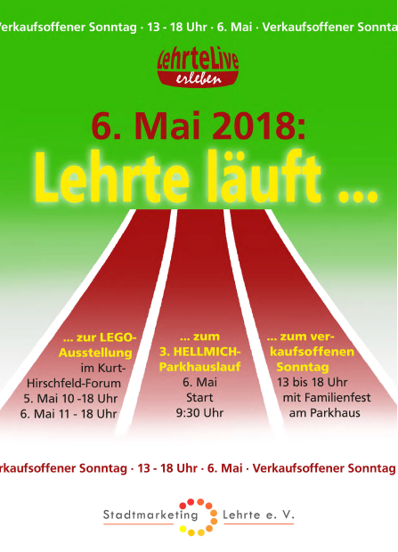 Verkaufsoffener Sonntag & Hellmich Recycling Parkhauslauf am 6. Mai 2018