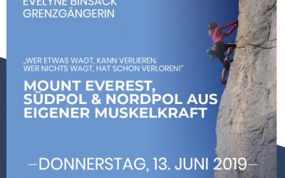 Vortrag der Grenzgängerin Evelyne Binsack – die Frau der drei Pole!