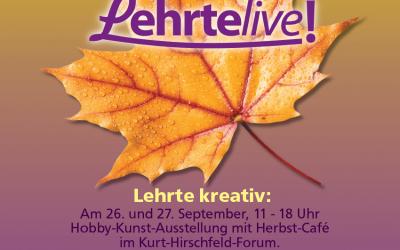 """""""Lehrte kreativ"""" am 26. und 27. September 2020 – zweitägige Hobby-Kunst-Ausstellung & verkaufsoffener Sonntag"""